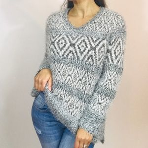 Style & Co Shaggy Gray Sweater